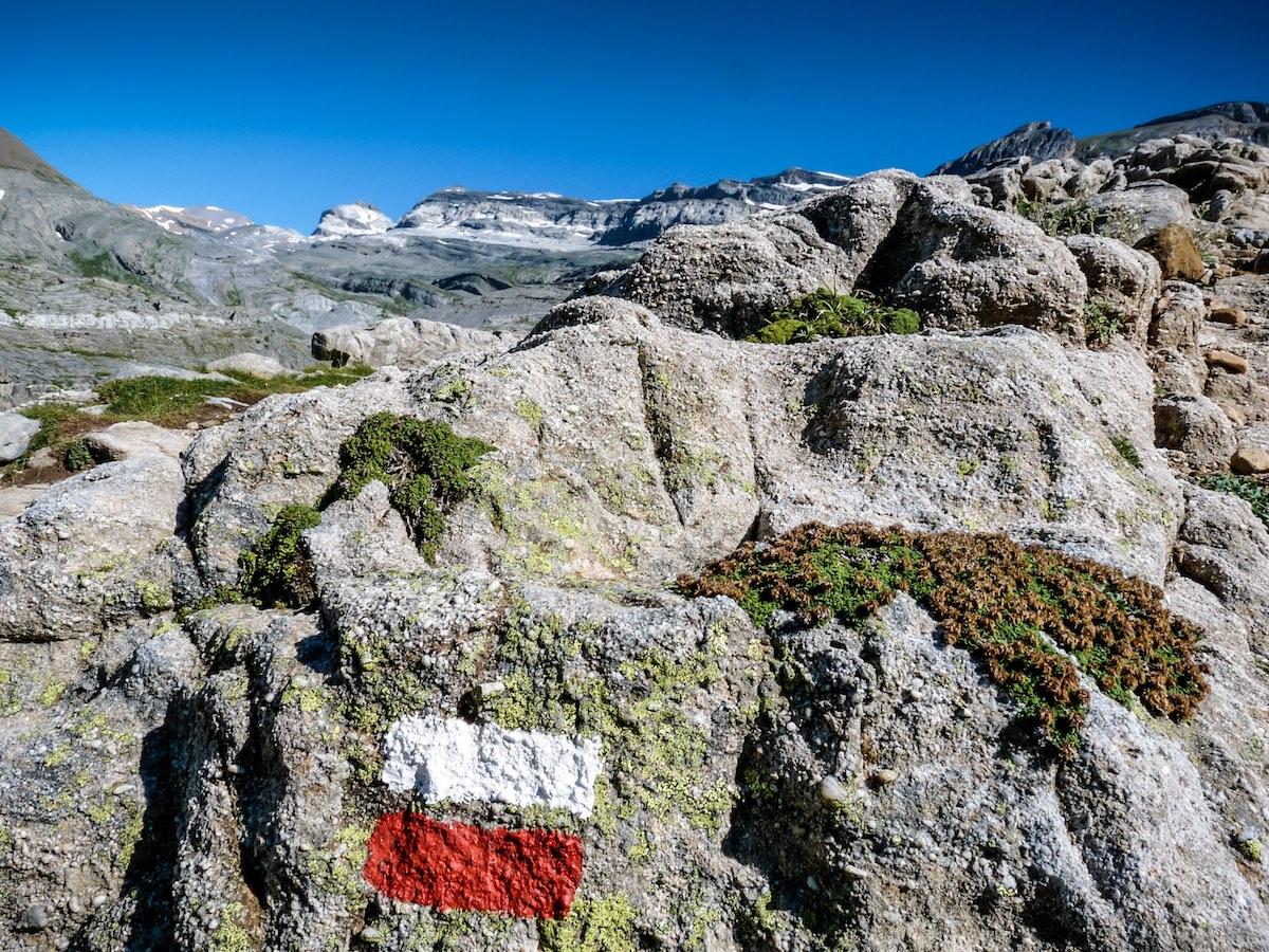 Pyrenees GR marking in Ordesa and Monte Perdido