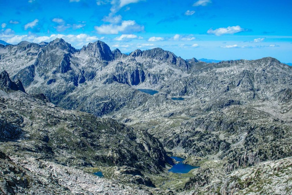 Catalonian Pyrenees mountain lakes