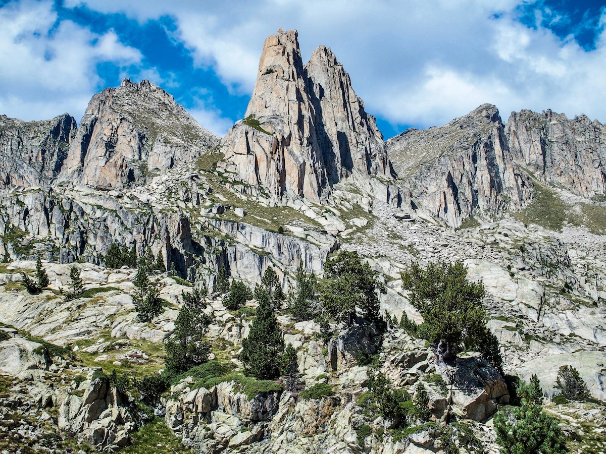 Rocky towers in the catalonian pyrenees